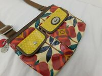 Key-Per Fossil Crossbody Canvas Coated Floral Print Purse Spring