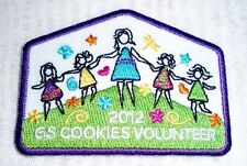 2012 GS COOKIES VOLUNTEER Girl Scout Cookie Sale Patch