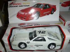 1/24 True Value IROC Dodge Daytona #12 WHITE PLASTIC CAR