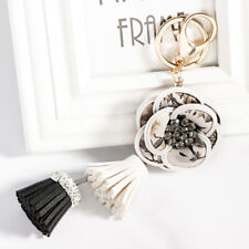 Small Flower and Tassel Pendant Handbag Keychain Handmade Exquisite Decorator SH