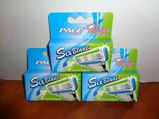 12 Pace Shave Lady Six Blade Women Cartridges 3-4 Packs Fits All Dorco Handles