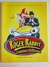 WHO FRAMED ROGER RABBIT SCREENING PROGRAM 4/4/2014 SAMUEL GOLDWYN BEVERLY HILLS