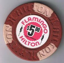Flamingo Hotel $5.00 Hilton Mold Casino Chip Las Vegas Nevada 14th Edition