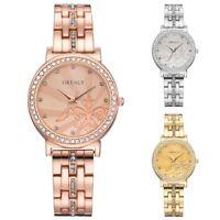Women Luxury Crystal Bracelet Watch Stainless Steel Analog Quartz Wrist Watches