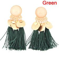 Long Tassel Drop Dangle Earrings Bohemian Ear Stud Earrings Women Jewelry 3c Red