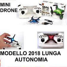 MINIDRONE MINI DRONE TASCABILE 4 ELICHE PORTATILE RADIOCOMANDATO LED USB 2018