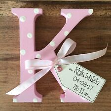 Shabby Chic Wooden Personalised Christening Free Standing New Baby Girl Boy Gift
