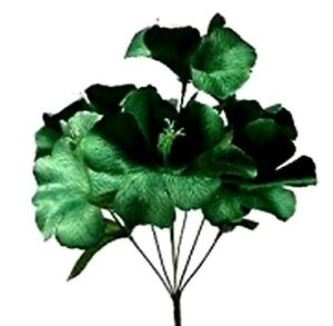 Hunter Green Hibiscus Bush Tropical Party Artificial Silk Flowers Fake Faux Dark