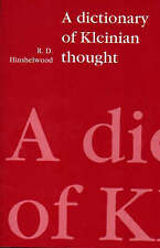 A Dictionary of Kleinian Thought (Paperback), Hinshelwood, R. D., 9780946960835