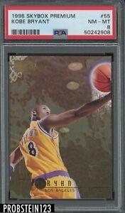 1996 Skybox Premium #55 Kobe Bryant Los Angeles Lakers RC Rookie HOF PSA 8
