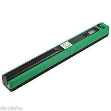 900DPI Handhold Scanner Portable HandyScan A4Book Photo Document Green Mini Gift