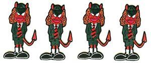 AC/DC Angus Set of 4 Patches [Memorabilia] Logo Emblem Devil Horns ACDC Patches
