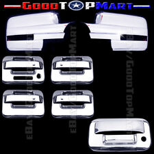 For Ford F150 2009-2014 Chrome Covers Set Mirrors SIGNAL+4 Doors KEYPAD+Tailgate