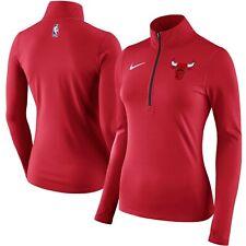 Nike Women's Chicago Bulls Element Quarter-Zip Jacket 864300-657 Red; Size Mediu