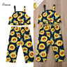 Fashion Kid Baby Girls Summer Tops Vest Sunflower Pants Leggings Outfits Clothes