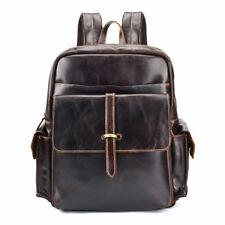 Genuine Leather Backpack Man Bag School Travel Laptop Bags Rucksack Satchel