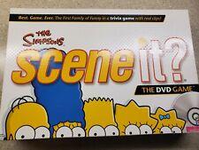 THE SIMPSONS SCENE IT? FAMILY TRIVIA DVD 2009 MATTEL BOARD GAME EUC