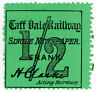 (I.B) Taff Vale Railway : Newspaper Parcel ½d