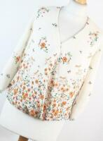 F&F White Floral Womens Wrap Top Size 8 (Regular)