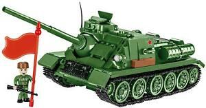 SU-100 Middle Self Propelled Weapon Construction Toys Building Bricks COBI 2541