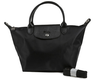 Longchamp Le Pliage Neo Tote Bag Nylon Black Small 1512 Made in France New