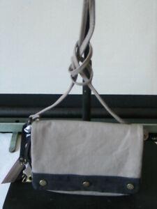 Kipling Medaka Denim Tribute Across Body / Shoulder Bag in Tribute Beige