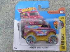 Hot Wheels 2017 #062/365 MONSTER truck DAIRY DELIVERY red HW Art Cars