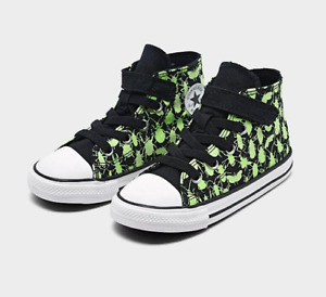 Converse Chuck Taylor All Star Shoes Infant Baby 7 New 1V Hi Glow Bugs Black