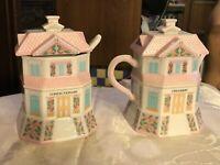 The Lenox Village Tea Room Confectionary & Creamery Sugar Creamer 1992