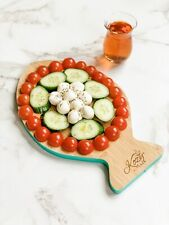 Cheese board & cutter platter, Organic Bamboo, Eco-friendly, Fish Shaped