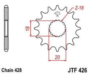 JT Pignon Moteur 15 Dents Pour Hyosung Ga 125 2V Croisière I Bj.97 - 98