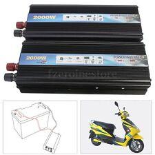 Pro 1000W coche Vehículo USB DC 12V/24V a AC 220V inversor de potencia adaptador convertidor