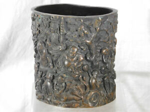 Chinese Metal/Bronze Sculpture of Immoratals Statue Bowl Reign Mark