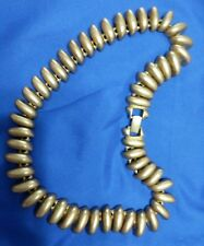 """Vintage Erwin Pearl satin brushed gold tone 20"""" x 3/4"""" necklace"""