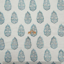By The Yard Design Handmade Block Print 100%Cotton Voile Sewing Running Fabric