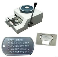 New 52 Characters Dog ID Tag Embosser Embossing Stamping Machine Fast Shipping