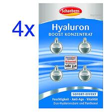 4x Schaebens HYALURON BOOST Konzentrat +Duo-Hyaluron je 4 Kapseln Gesichtspflege
