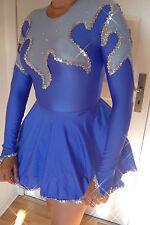 Stretch Solo Gardekostüm für Tanzmariechen m. Hologrammpailetten u. Petticoat 38
