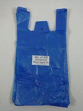 200 Qty Blue Plastic T Shirt Retail Shopping Bags With Handles 8 X 5 X 16 Sm