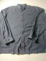 Fred Perry Mens Shirt Size XL Blue Long Sleeve Button Down 100% Cotton
