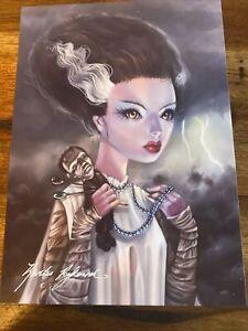 "Kurtis Rykovich ""Bride"" Frankenstein Voodoo Signed Print"