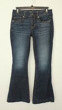 AMERICAN EAGLE MODERN FLARE LOW RISE SUPER STRETCH JEANS SIZE 4 SHORT