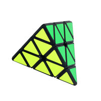 Pyramid Speed Cube, Triangle Carbon Fiber Sticker Twisty Puzzle for Kid Toy