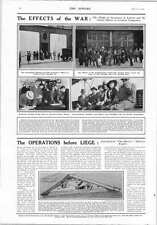 1914 Forts Of Liege German Company Offices Closed London American Credit Notes