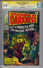 CHAMBER OF DARKNESS #4 CGC 7.0 WHITE SS STAN LEE SIGNED SIG SERIES  #1182925007