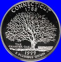 1999 S Clad Connecticut State Quarter Deep Cameo Gem Proof