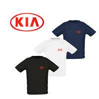 KIA Maglietta T Shirt RICAMATO Auto Logo Camicia Tee Manica Corta Sport Uomo