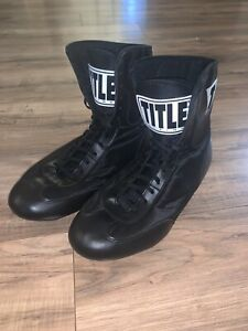 Title Boxing Speed Flex Encore Mid Length Boxing Shoes Size 12 Black