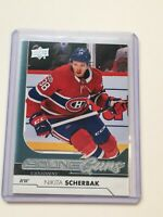 F63400  2017-18 Upper Deck #494 Nikita Scherbak YG RC CANADIENS