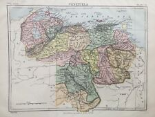 1885 Antique map - Venezuela - Encyclopaedia Britannica